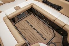 Brown GatorStep Vinyl Flooring on a Moomba Mojo Wake Boat