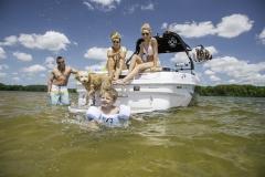 Rear Swim Deck Hangout on a Moomba Mojo Wake Boat