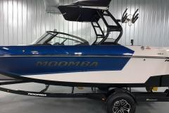 Bimini Top With Surf Pockets on the 2021 Moomba Mondo Wake Boat