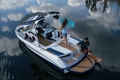 Transom Walkthrough of the 2021 Nautique 210 Wake Boat