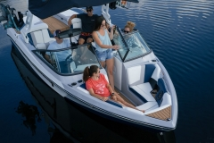 Bow Seating of the 2021 Nautique 210 Wake Boat
