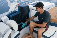 Deep Storage Compartments of the 2021 Nautique 210 Wake Boat