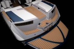 Fiberglass Swim Platform of the 2021 Nautique 210 Wake Boat