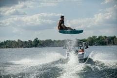 Wakeboarding Behind the 2021 Nautique 210 Wake Boat