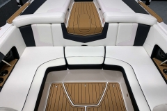 Interior Rear Layout of the 2021 Nautique 230 Wake Boat