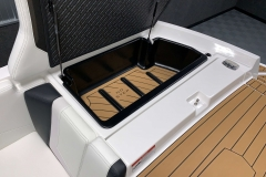 Transom Storage of the 2021 Nautique 230 Wake Boat