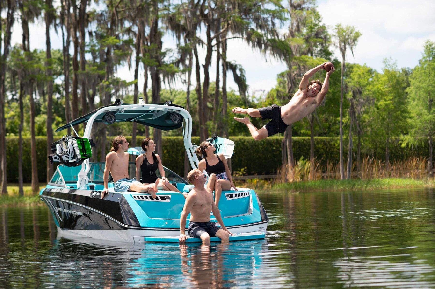 Nautique Lifestyle on the 2021 Nautique 230 Wake Boat