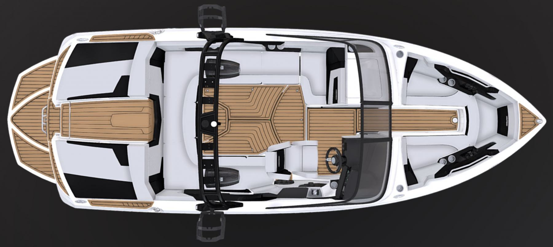 Interior Layout of the 2021 Nautique 230 Wake Boat