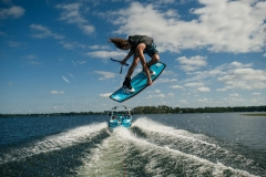 Wakeboarding Behind the 2021 Nautique 230 Wake Boat