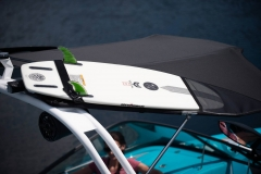 Bimini Top with Surfboard Pockets on the 2021 Nautique 230 Wake Boat