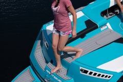 Transom Walk-Through Design of the 2021 Nautique 230 Wake Boat