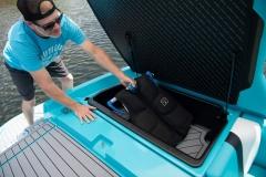 Transom Storage on the 2021 Nautique 230 Wake Boat