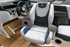 Adjustable Captain's Helm Chair of the 2021 Nautique G23 Wake Boat