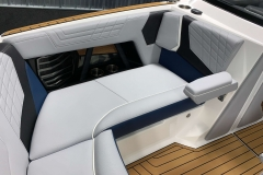 Retractable Arm Rests on the 2021 Nautique G23 Wake Boat