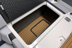 Sub Floor Ballast System of the 2021 Nautique G23 Wake Boat