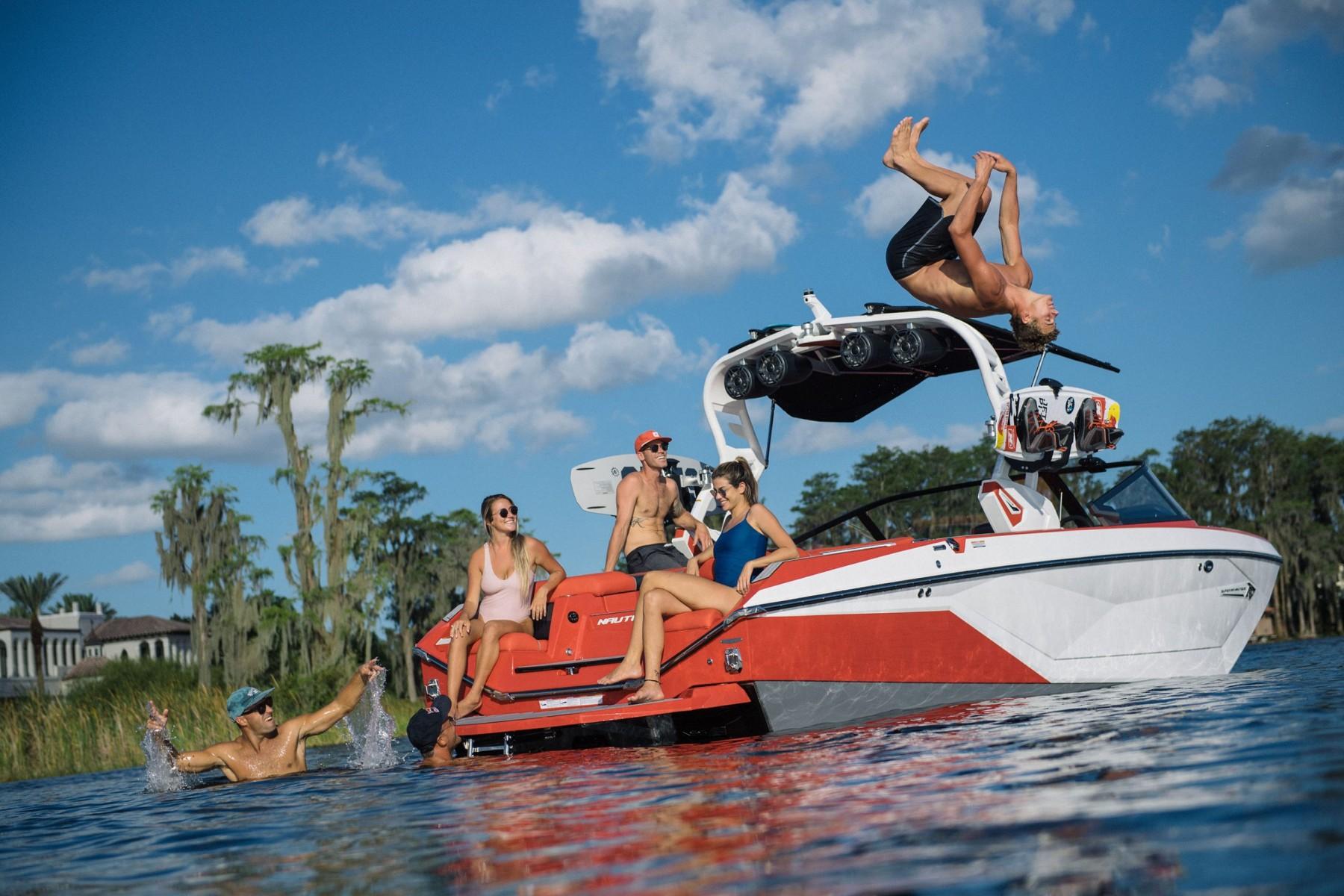 Nautique Lifestyle on the 2021 Nautique G23 Wake Boat