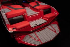 Rear Transom Seats on the 2021 Nautique G23 Wake Boat