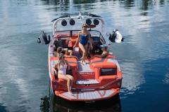 Transom Walk-Through Design of the 2021 Nautique G23 Wake Boat