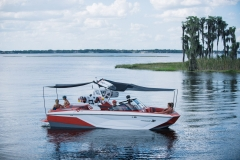 Extended Sun Shades on the 2021 Nautique G23 Wake Boat