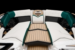 Convertible Bow Filler Cushion on the 2021 Nautique G23 Paragon Wake Boat