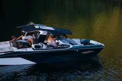 Retractable Tower of the 2021 Nautique G23 Paragon Wake Boat