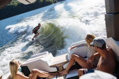 Surf Wave Behind the 2021 Nautique G23 Paragon Wake Boat