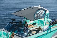 Bimini Top Surf Storage on the 2021 Nautique G23 Wake Boat
