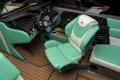Actuated Helm Seat on the 2021 Nautique G23 Wake Boat