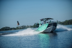 Wakeboarding Behind the 2021 Nautique G23 Wake Boat