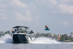 Wakeboarding Behind a 2021 Nautique GS20 Wake Boat