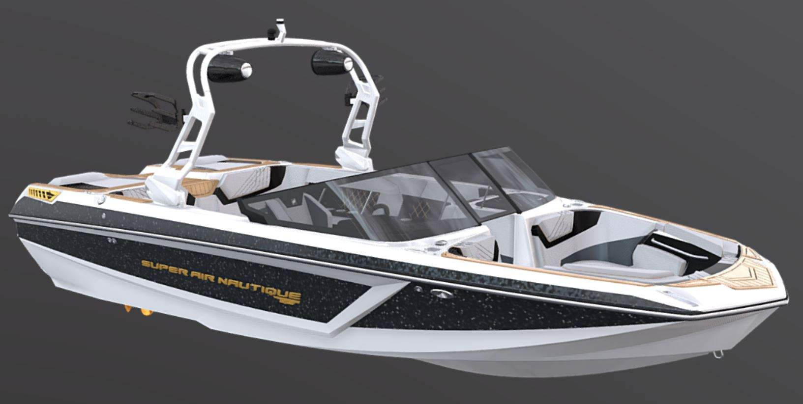 White Flight Control Tower on the 2021 Nautique GS20 Wake Boat