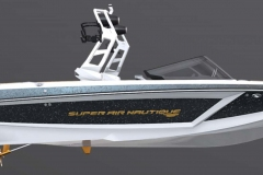 Anthracite Metal Flake on the 2021 Nautique GS20 Wake Boat