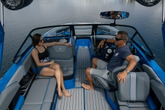 Spacious Cockpit Layout on the 2021 Nautique GS22 Wake Boat