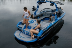 Comfortable Transom Seating on the 2021 Nautique GS22 Wake Boat