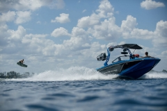 Wakeboarding Behind the 2021 Nautique GS22 Wake Boat