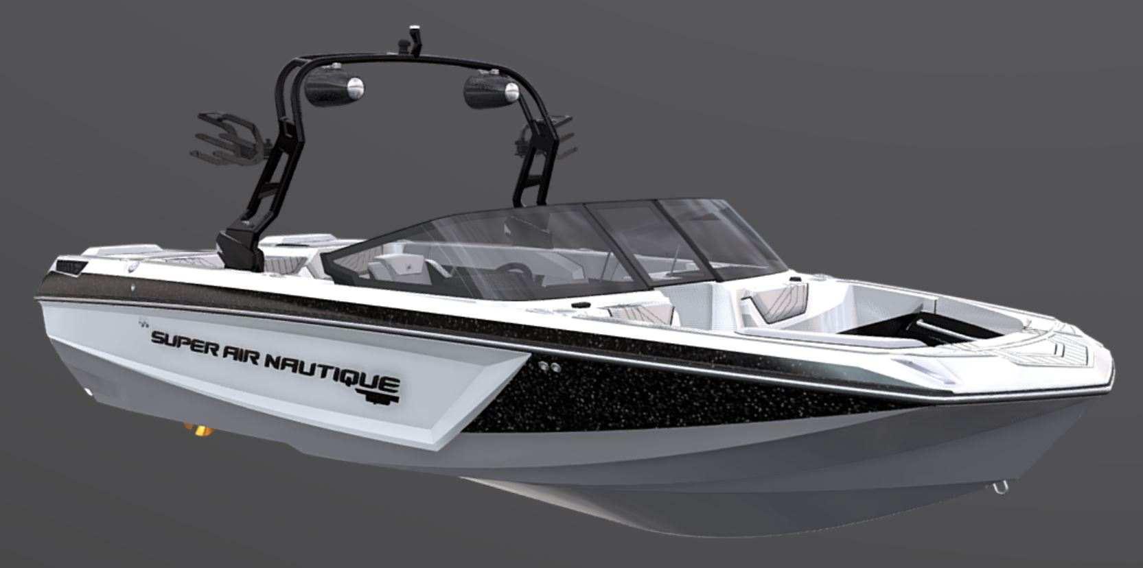 2021-Nautique-GS24-Jet-Black-Metal-Flake-Tungsten-Grey-Wake-Boat-1