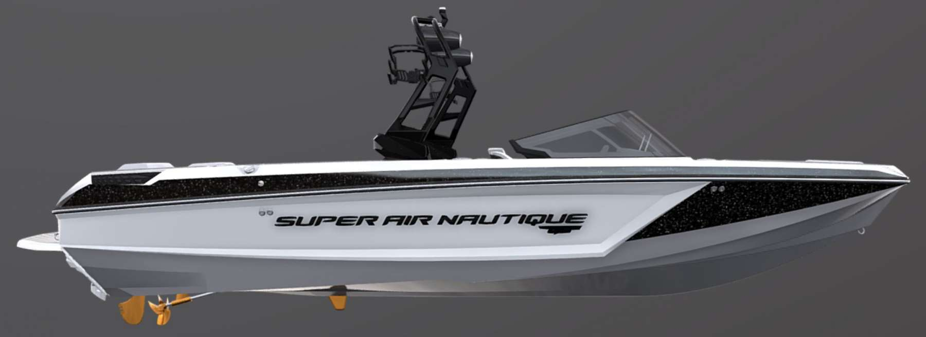 2021-Nautique-GS24-Jet-Black-Metal-Flake-Tungsten-Grey-Wake-Boat-2