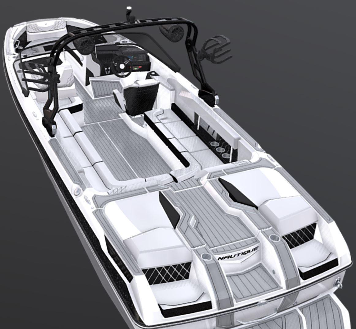 2021-Nautique-GS24-Jet-Black-Metal-Flake-Tungsten-Grey-Wake-Boat-3