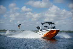 Wakeboarding Behind a 2021 Nautique GS24 Wake Boat