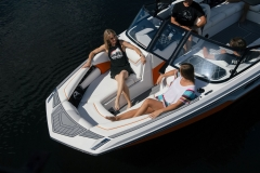 Wide Bow Design of the 2021 Nautique GS24 Wake Boat