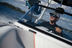 Impressive Driver's Visibility on the 2021 Nautique GS24 Wake Boat