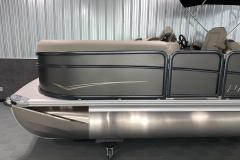 Black Hammered Rails on the 2021 Premier 220 Sunspree RF Pontoon Boat