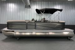 "25"" Pontoon Logs of the 2021 Premier 220 Sunspree RF Pontoon Boat"