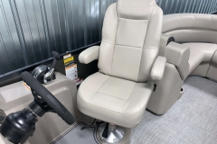Adjustable Captain's Chair of the 2021 Premier 220 Sunspree RF Pontoon Boat