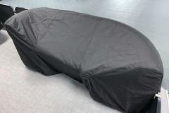 Black Canvas of the 2021 Premier 220 Sunspree RF Pontoon Boat