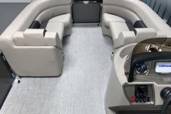 Interior Bow Layout of the 2021 Premier 220 Sunspree RF Pontoon Boat