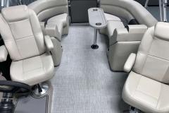 Interior Rear Layout of the 2021 Premier 220 Sunspree RF Pontoon Boat