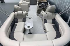 Interior Layout of the 2021 Premier 220 Sunspree RF Pontoon Boat