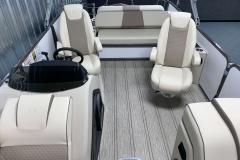 Interior Rear Layout of the 2021 Premier 230 Solaris RL Tritoon Boat