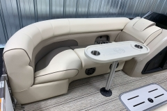 Removable Snack Table of the 2021 Premier 230 Solaris RL Tritoon Boat